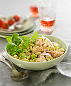 Flageolets bean and tuna salad