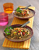 Lentil,chickpea and lamb soup