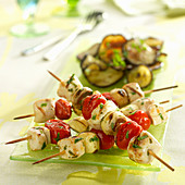 Mediterranean chicken brochettes