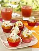Cupcakes with icing and candies