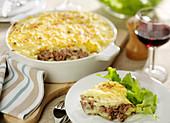 Lamb and mashed potato pie