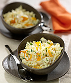 Creamy rice with haddock