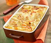 Shrimp and scallop lasagnes