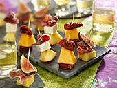 Assortment of fruity appetizer bites