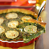 Spinach-goat's cheese tart
