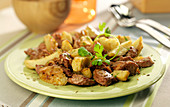 Lamb and artichoke sauté with cumin