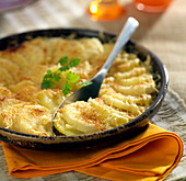 Pastinaken-Kartoffel-Gratin