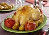 Roast Chicken with Two Apples
