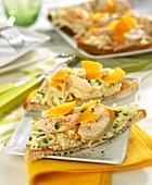 Celeriac remoulade,chicken and mimolette open sandwich