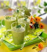Cold pea soup