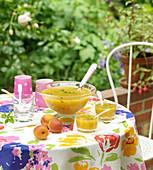 Apricot and pistachio soup