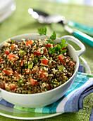 Green lentil tabbouleh