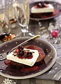 Black Forest-style pudding