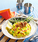 Rice sauté with chorizo and chicken