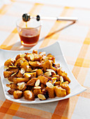 Glazed rutabaga with honey and almonds