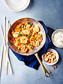 Shrimps sauté with cashews