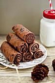 Chocolate Pancake Stack