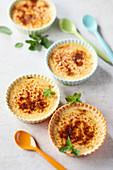 Buckwheat and Mint Crème Brûlée