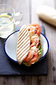 Shrimp mini panini