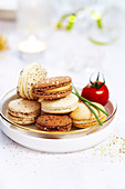 Selection of savoury Macarons