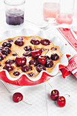 Griotte cherry batter pudding