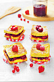 Brioche french toast with red fruit jam