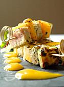 Thunfisch-Mango-Spiess