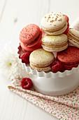 Macarons Mandel-Karamell, Himbeer-Schwarze Johannisbeere, Zitrone-Limette