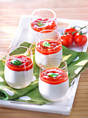 Stockfischpüreesahne mit Tomatencoulis