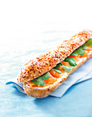 Salmon,ricotta and sweet corn sandwich