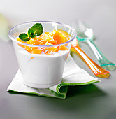 Coconut milk and mango soup