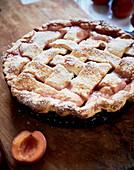 Apricot criss-cross pie