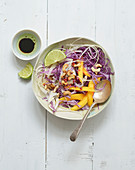 Cabbage,fennel,mango and grilled cashew salad
