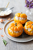 Jack Be Little Squashes Stuffed With Rice,Coconut Milk And Tofu