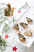 Mini Tapenade Flaky Pastry Christmas Trees