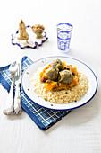 Couscous With Lentil And Pumpkin Balls