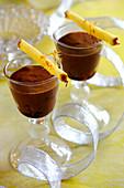 Pineapple And Chocolate Puddings