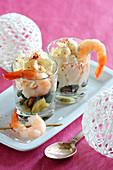 Shrimp Espuma With Confit Courgettes