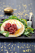 Blinis With Smoked Duck And Orange Mousse
