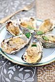 Gratinierte Austern mit Ingwer