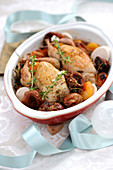 Quail Stuffed With Dried Fruit And Cognac