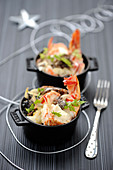 Spiny Lobster And Morel Casserole