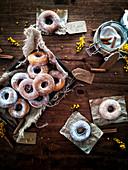 Donut mit Zucker und Zimt