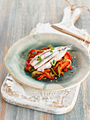 Grilled Red Pepper And Anchovy Salad