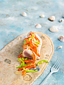 Thunfisch-Tataki mit Paprikaconfit