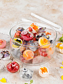 Fruit,Herb And Flower Ice Cubes