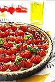 Tomato,Pesto And Carré Frais Tart