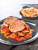 Pork Confit With Ratatouille
