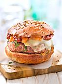 Beef And Confit Tomato Hamburger
