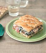 Swiss Chard And Cream Focaccia Sandwich